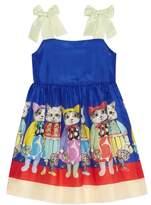 Gucci Kitten Friends Silk Dress