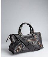 Balenciaga black goatskin 'Giant Part Time' large bag