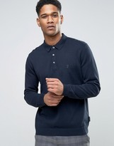 French Connection Knitted Long Sleeve Polo