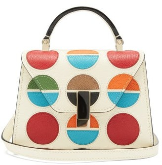 Valextra X La DoubleJ Iside Micro Leather Bag - White Multi