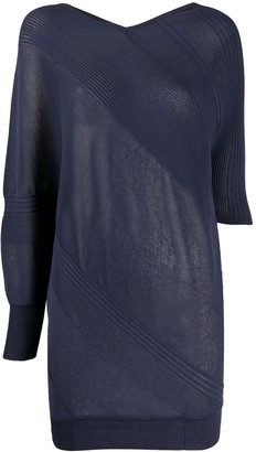 Antonio Marras Asymmetric Ribbed Detail Jumper