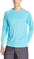 Teal Cove Men's Long Sleeve Swim Tee with 20+ UPF Protection