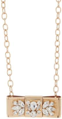 Dolce & Gabbana Crystal Cluster Bow Collar Necklace
