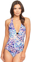 Figleaves Del Rey Soft Halter Tummy Control Swimsuit
