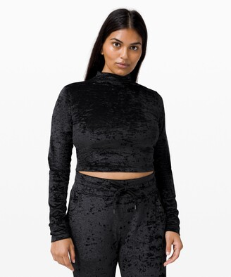 Lululemon All Aligned Mock Neck Long Sleeve *Crushed Velvet