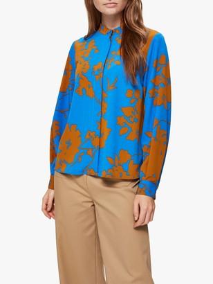 Selected Jade Kathy Printed Blouse, Campanula Blue