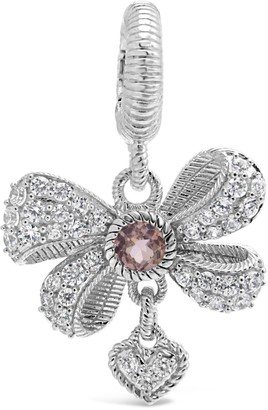 Judith Ripka Sterling Silver Diamonique Bow Enhancer