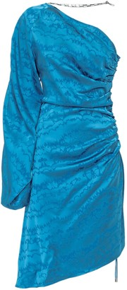 ATTICO One Shoulder Draped Asymmetric Dress