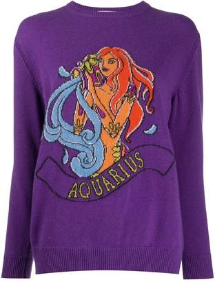 Alberta Ferretti Aquarius star sign knit jumper