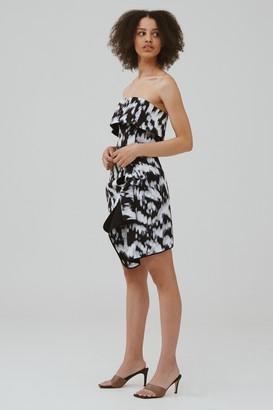 C/Meo NEW STAGE MINI DRESS Ivory Ink Dye