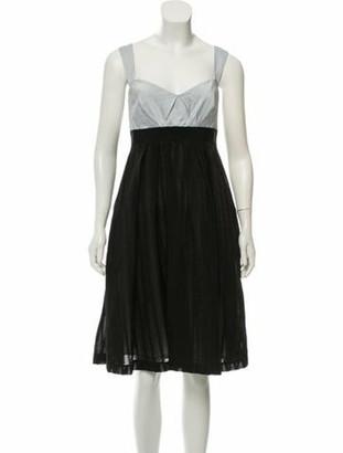 Mantu Sleeveless Knee-Length Dress w/ Tags blue