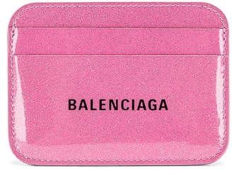 Balenciaga Glitter BB Card Holder in Old Rose & Black | FWRD