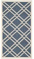 Safavieh Courtyard Collection CY6923-268 Navy and Beige Indoor/Outdoor Area Rug, 2-Feet 7-Inch by 5-Feet
