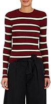 Etoile Isabel Marant Women's Striped Crewneck Sweater-Burgundy