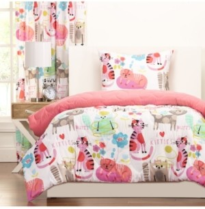 Crayola Purrty Cat 6 Piece King Luxury Duvet Set Bedding
