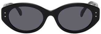 Alaia Black Round Cat Eye Sungalsses