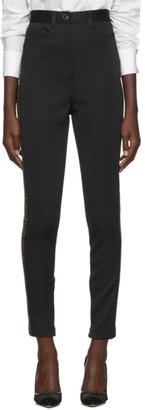 Fendi Black FF Logo Band Trousers