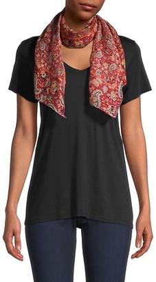 Etro Calcutta Paisley-Print Linen & Silk Scarf