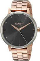 Nixon Women's 'Kensington' Quartz Stainless Steel Watch, Color:Rose Gold-Toned (Model: A0992361-00)