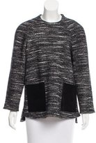 Proenza Schouler Leather-Trimmed Knit Top