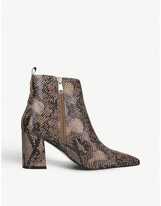 Kurt Geiger Suki snake-embossed faux-leather heeled ankle boots