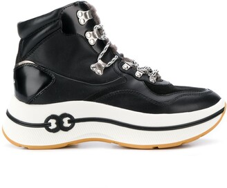 Tory Burch Lace-Up High Top Sneakers