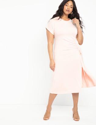 ELOQUII Cinched Skirt Tee Dress