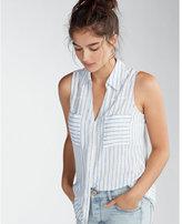 Express Striped Sleeveless Portofino Shirt