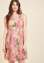 ModCloth Outstanding Together A-Line Dress in Ecru in S