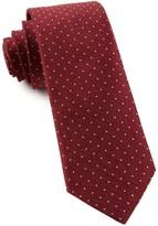 The Tie Bar Burgundy Rivington Dots Tie