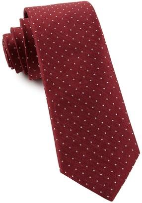 Tie Bar Rivington Dots Burgundy Tie