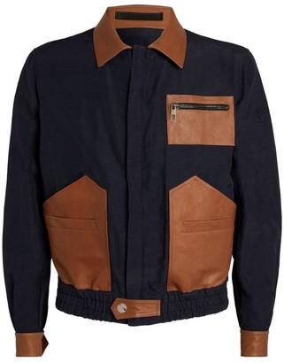 Giorgio Armani Leather-Trim Jacket