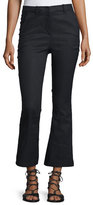 Derek Lam 10 Crosby Cropped Flare Linen-Blend Trousers