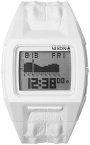 Nixon Men&s Lodown II White Croc Embossed Silicone Digital Watch