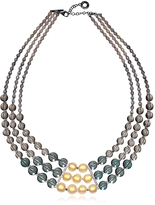 Antica Murrina Veneziana Atelier Nuance - Grey & Amber Murano Glass Choker