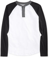Epic Threads Boys' Raglan-Sleeve Henley, Only at Macy's