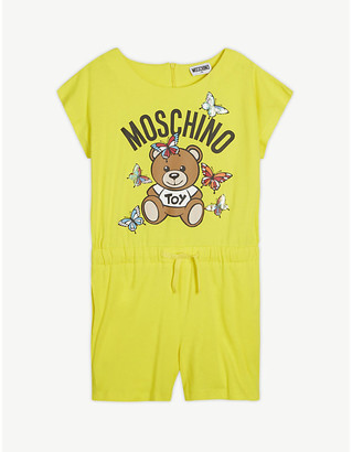 Moschino Sequined butterfly cotton playsuit 4-14 years