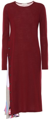 Emilio Pucci Silk-trimmed virgin wool dress