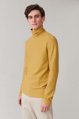 Cos High-Neck Organic Cotton Top