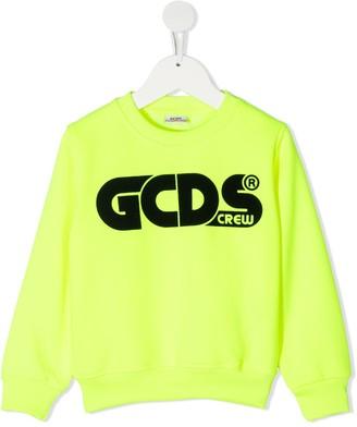 Gcds Kids Long-Sleeved Logo Print Jumper