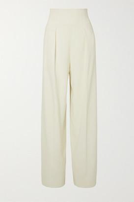 Proenza Schouler Pleated Crepe Wide-leg Pants - White