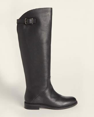 Franco Sarto Black Halloway Knee-High Leather Boots