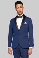 Moss Bros Skinny Fit Blue Tuxedo