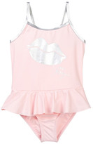 Betsey Johnson Sparkle Flounce Bottom One Piece (Toddler Girls)