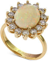 Effy Opal (1-7/8 ct. t.w.) and Diamond (1 ct. t.w.) Ring in 14k Gold