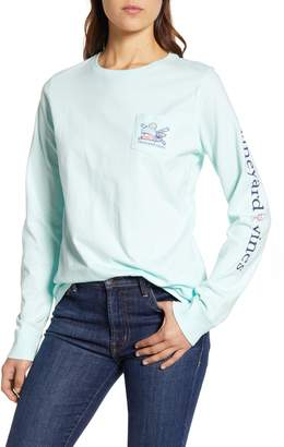 Vineyard Vines Apres Ski Whale Long Sleeve Cotton Tee