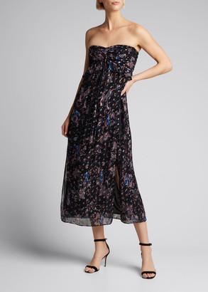 IRO Somov Paisley-Print Strapless Maxi Dress