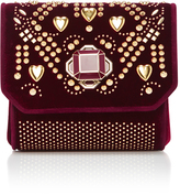 Elie Saab Cross Over Mini Embellished Velvet Bag