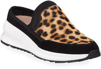 Taryn Rose Zetta Leopard Slip-On Mule Sneakers
