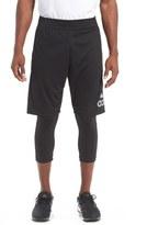 adidas 'Crazylight' 2-In-1 Running Tights & Shorts